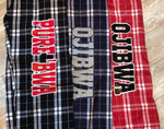 Outlined Name Flannel PJs