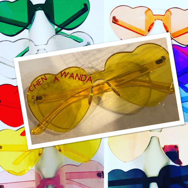 Custom Colored Heart Glasses