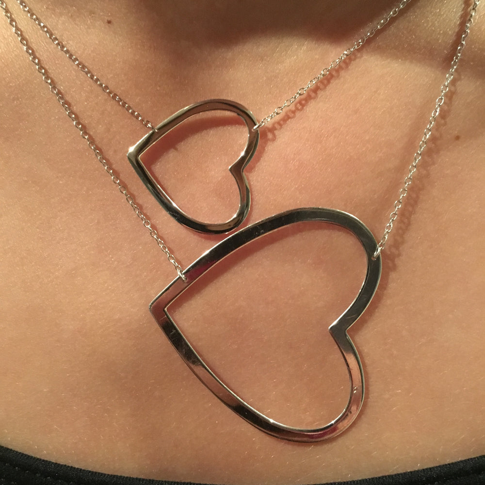 Mini Sideways Open Heart Necklace