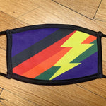 Rainbow Stripe & Bolt Mask