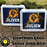 Large Junk Box - Lightning Logo Pattern