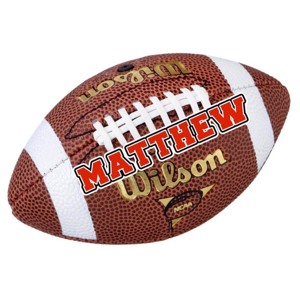 Large Football Name Decal Sheet