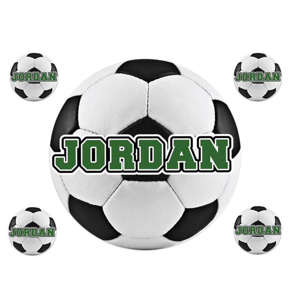 Large Soccer Ball Name Decal Sheet