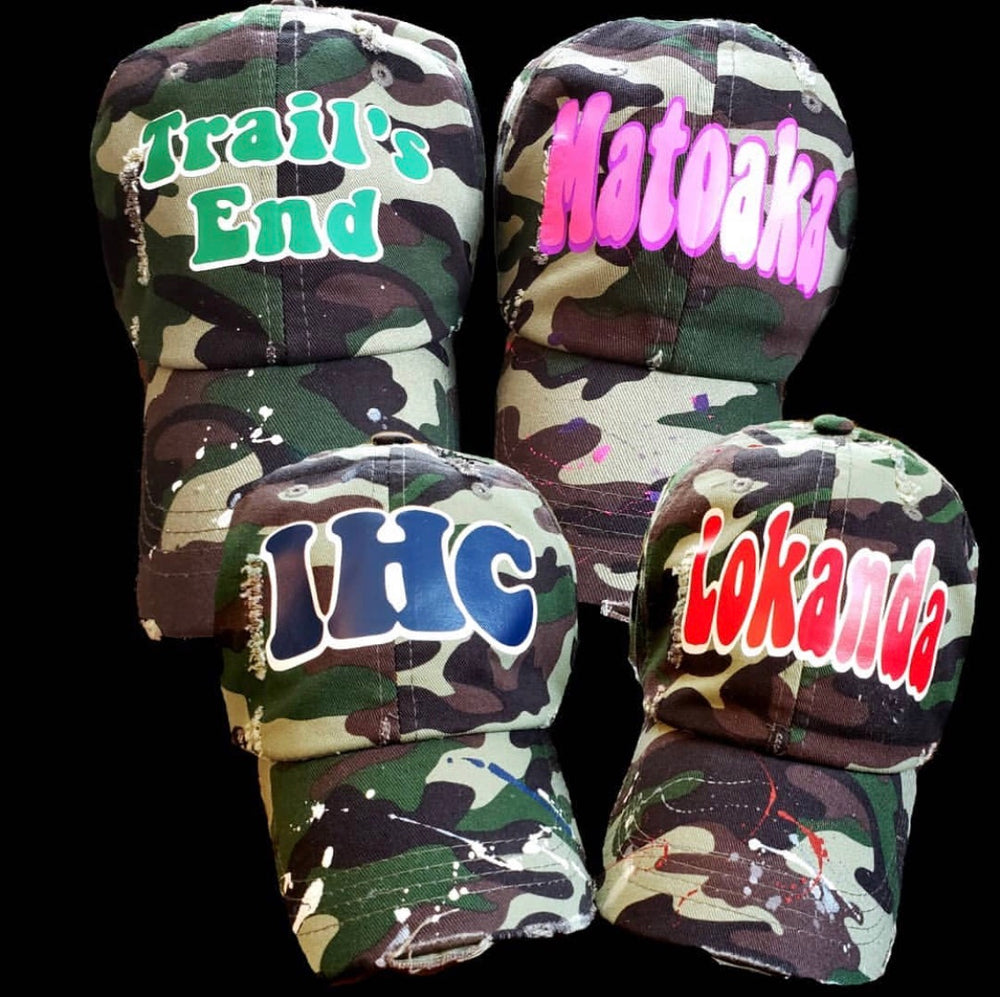 Camo Hat with Camp Name