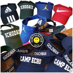 Camp Name with Small Jump Man Visor