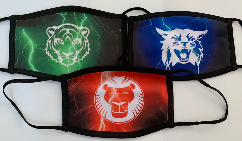 Camp Logo Mask - lightning backgound
