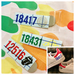Sneaker Zip Code Decal Set
