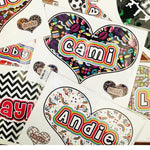 Oversized Heart Namedrops Name Decal