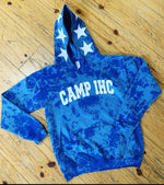 The Camp Stars Around Bleached Distressed Hoodie