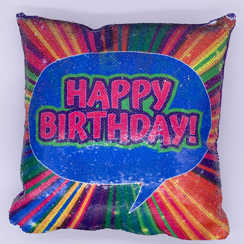 Sample Sale - Happy Birthday Sequin Pillow