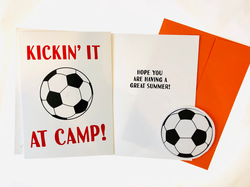 Card from Home with Decal - Kickin' It at Camp