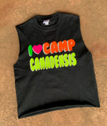I Heart Camp Neon Bubble Cut Tank