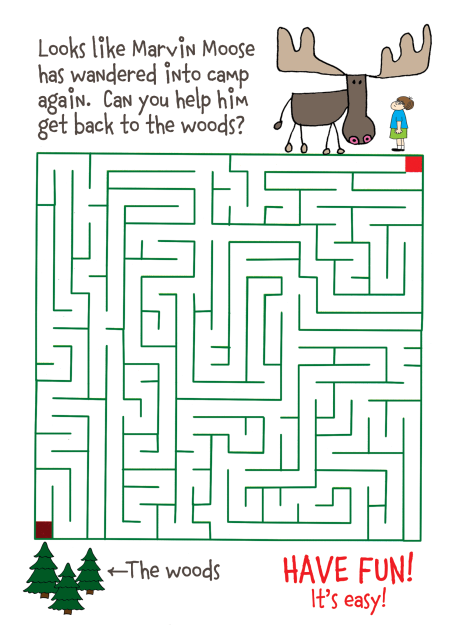 Card from Home - Moose Maze