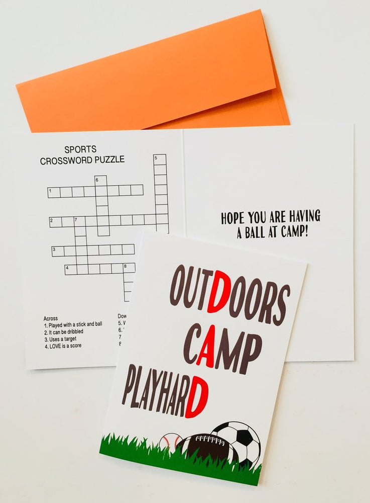 Card from Home - Outdoors Camp Playhard