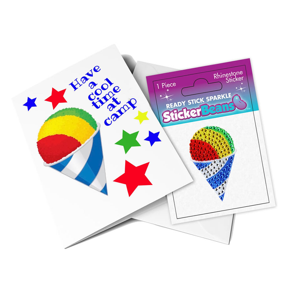 StickerBeans Card - Have a Cool Time at Camp (Snow Cone)