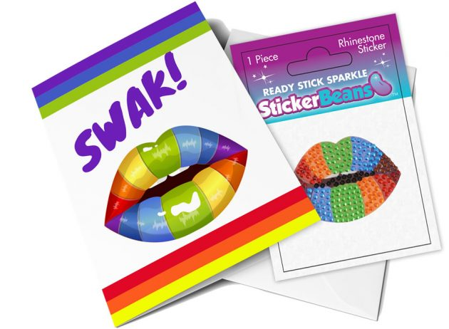StickerBeans Card - SWAK (lips)