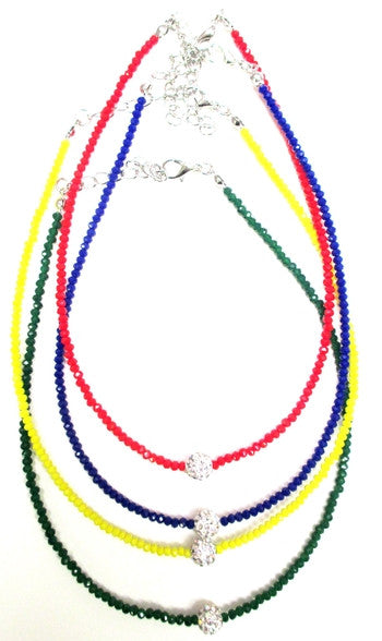 Camp Color Crystal Bead Choker