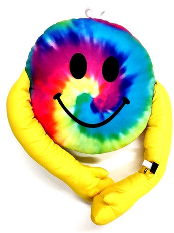 Smiley Hug Tie-Dye Pillow