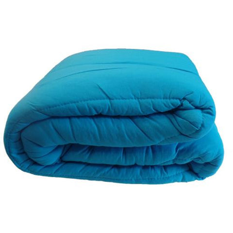 Jersey Knit Camp Comforter - Turquoise