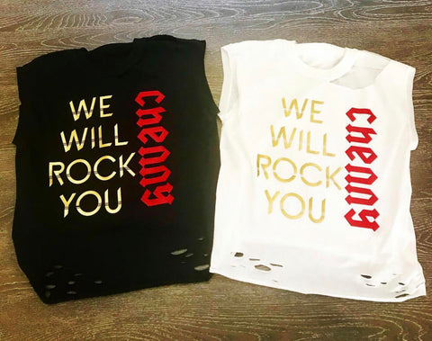 We Will Rock You Ripped Tank