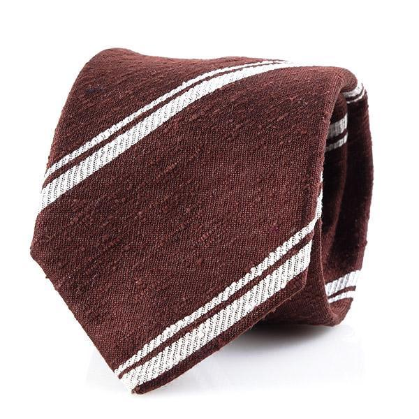 Ties - Brown | Dbl Stripe