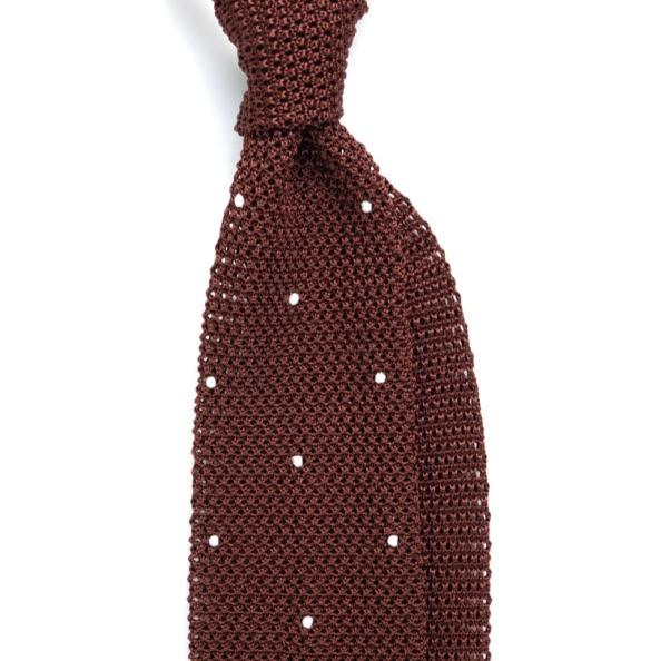 Ties - Brown Knitted Tie
