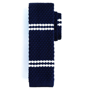Ties - Navy | Dbl Stripe