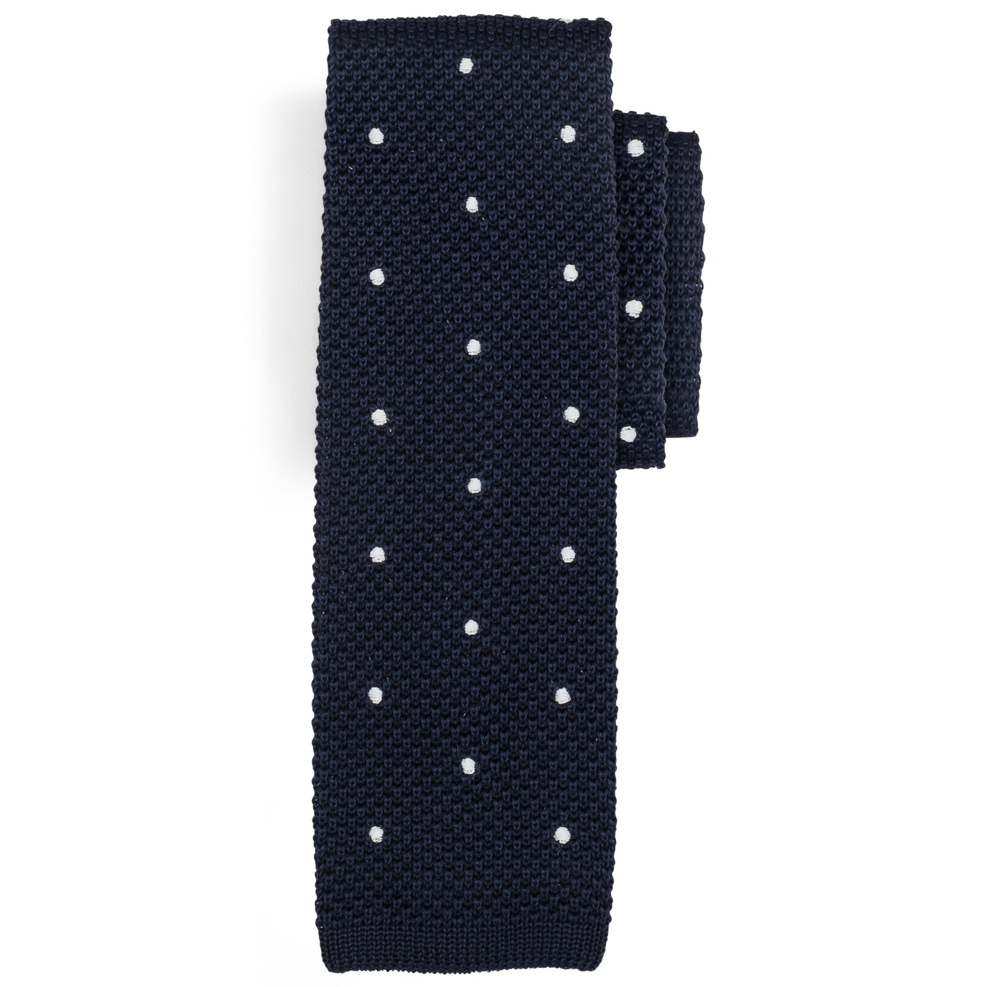 Ties - Navy | Polka Dot
