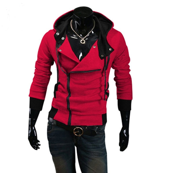 Men's - Zeus Casual Zipper Hooded Jacket-Cheapnotic