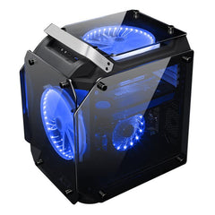 Coolman Gorilla Tempered Glass ATX Computer Gaming Case Water Cool Air Cool PC Case with Two 200mm Cooling Fan