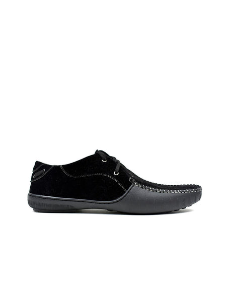 Men's - Block Black Lace Loafer-Cheapnotic