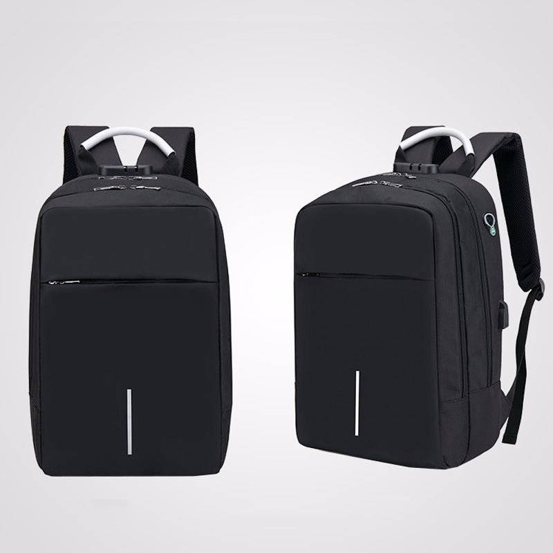 Tech -  Backpack Rucksack With USB Port Headphone Hole Travel Hiking School Bag