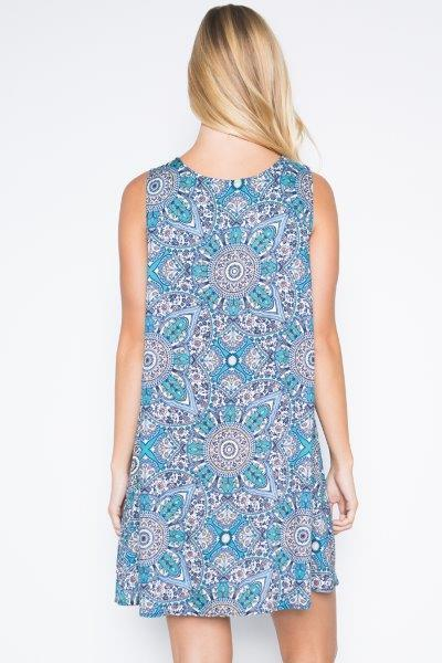 Women's - BOHO Print Tunic Dress
