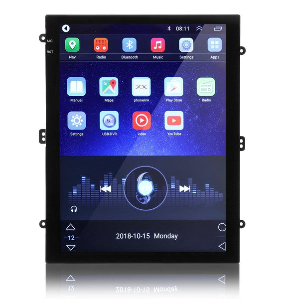 YUEHOO 9.7 Inch 2DIN for Android 8.1 Car Stereo Multimedia Player Quad Core 1+16G 2.5D Portrait Screen GPS WIFI FM Radio