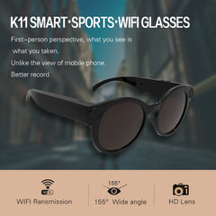 Tech - K11 Camera Sunglasses 1080p Wifi Mini Micro Cameras Polarized-lenses