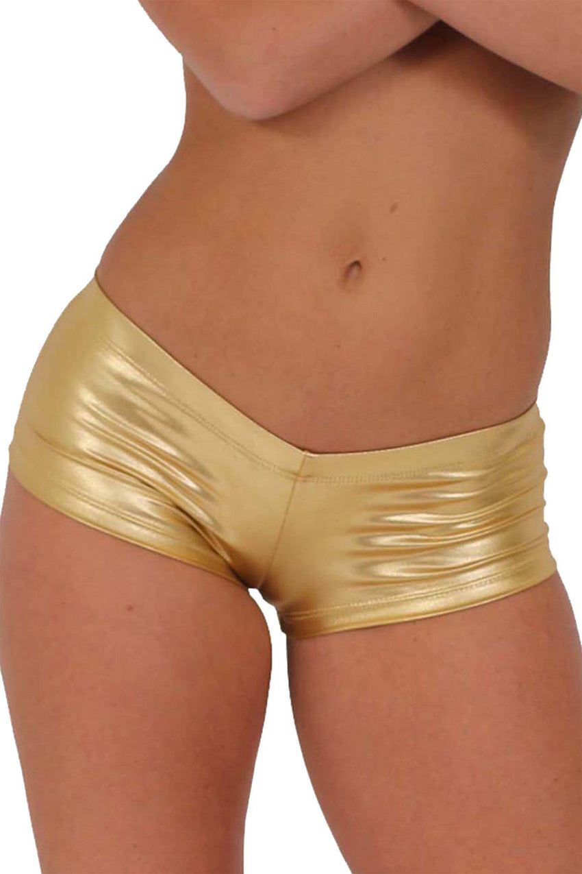 Women's - Metallic Booty Shorts