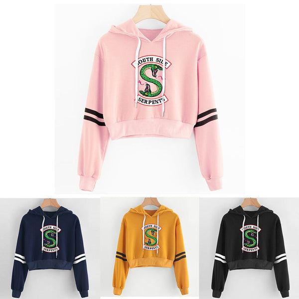 Women's -  RIVERDALE Southside Serpent Print Casual Sweatshirts Hoodies