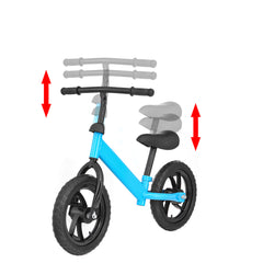 12inch Adjustable Kids Balance Bike No-Pedal Toddler Scooter Bike Walking Balance Training for 2-6 Years Old Children