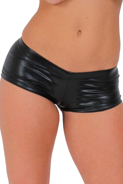 Women's - Metallic Booty Shorts-Cheapnotic