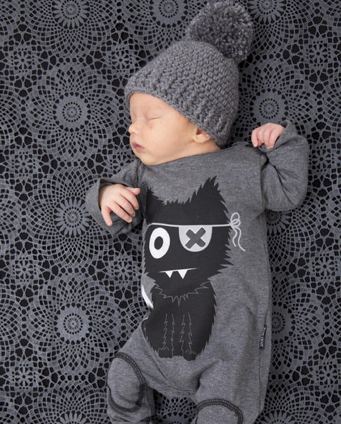 Kids' - Cat Long sleeve baby romper