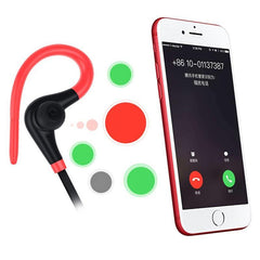 Tech - Mini Sport Handsfree Bluetooth Headset With Mic Hidden Earbuds For IPhone All Smart Phone