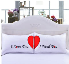 Home - Bedding Red heart English alphabet Pillowcase