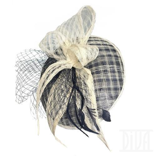 Women's- Delicate White Fascinator headband Wedding Tea