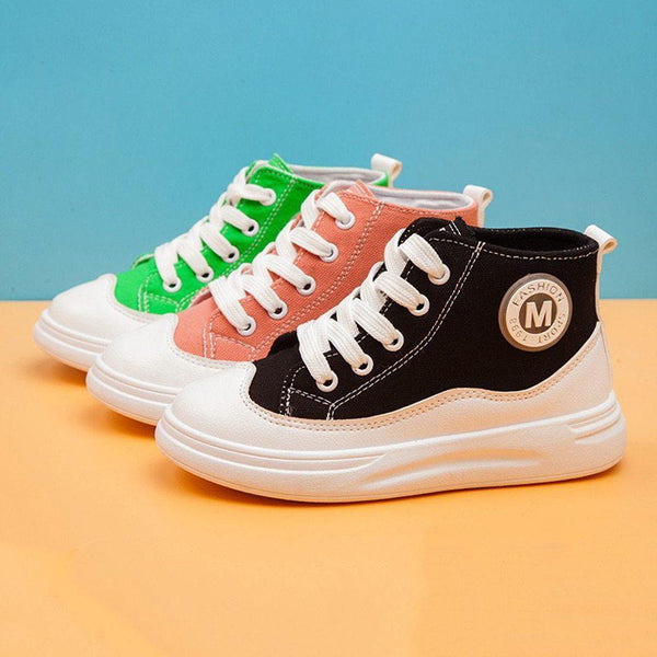 Kids' - Mesh Lace-up Fashion Breathable Sneakers
