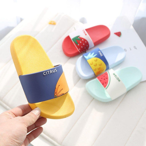 Kid's - Summer Cartoon Fruit Slippers