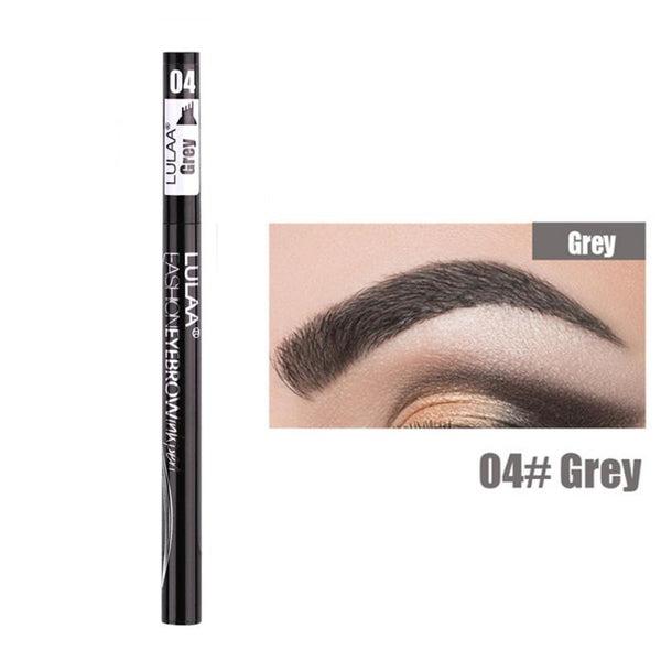 2 Or 1pcs Pro Microblading Eyebrow Tattoo Pen 4 Fork Tips Fine Sketch Liquid Eyebrow Pencil