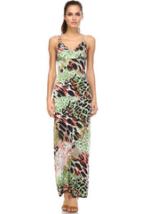 Women's - Double Strap Cross-Back Maxi Tank Dress