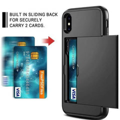 Tech - Slide Armor Card Holder Cover Shockproof Shell-Cheapnotic