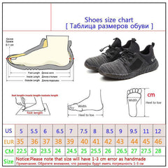 Unisex - Breathable Steel Toe Air Safety Shoes