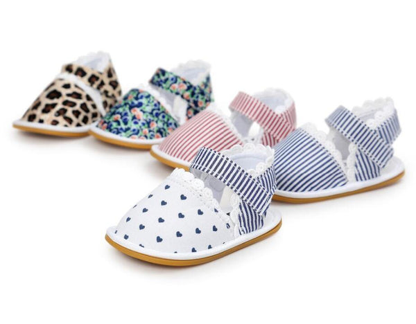Kids' - New Stripe Bowtie Cute Baby moccasins-Cheapnotic